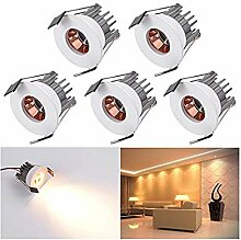 Elitlife Mini LED Einbaustrahler 5er 3W mit Trafo