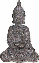 Eliware Hochwertige Buddha Skulptur Sitzend