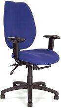 Eliza Tinsley 1431FBSY/ABL Ergonomischer Bürostuhl mit hoher Rückenlehne und verstellbaren Armlehnen