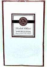 Elizabeth Williams Duftkerze Kleiderschrank Kleiderbügel–Double Duftsachet in–Weiß Tee & Ingwer
