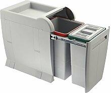 ELLETIPI City PTA 3040A Abfalleimer Mülltrennung, ausziehbar für Base, grau, 28x 42x 44cm