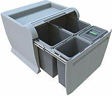 ELLETIPI City PTA 5045b Mülleimer Mülltrennung,