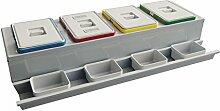 ELLETIPI COMPO Evo pbe2212050C10Mülleimer Mülltrennung mit Schublade, Metall und Kunststoff, grau, 111x 47.2x 22cm