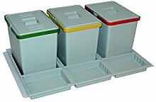 ELLETIPI ptc28080501F C10PPV Mülleimer Mülltrennung mit Schublade