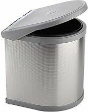 ELLETIPI Ring ppi607/1All.Abfalleimer-Tür für Base, Kunststoff und Aluminium, Grau, 27x 27x 32cm