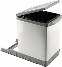 ELLETIPI Tower pal609/1ausziehbarer Abfalleimer Automatische für Base, Kunststoff und Aluminium, Grau, 25x 41x 39.5cm