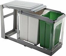ELLETIPI Tower pap605/1-Mülleimer Mülltrennung, ausziehbar für Base, grau, 25x 46x 41cm