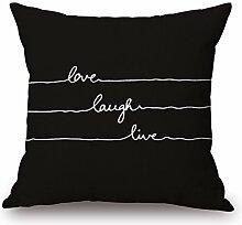 Elliot _ Eibe Love Laugh Live schwarz Baumwolle