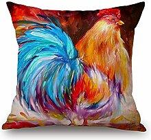 Elliot Eibe Watercolor Hahn Art Colorful Huhn Art