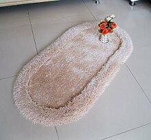 Elliptische Verschlüsselung Verdickung Teppich/Wohnzimmer Couchtisch Bett Schlafzimmer Teppich-B 70x140cm(28x55inch)