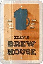 "ELLY 's Brew House–hausgebrautem Bier Bar Pub Club Kunststoff Schild, plastik, 12"""" x 18"""" (30.5cm x 45.7cm)"
