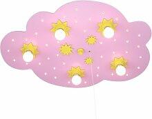 Elobra Deckenleuchte Sternenwolke, rosa 124307