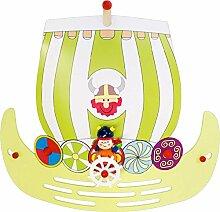Elobra Kinderlampe Wandleuchte Wikingerschiff,