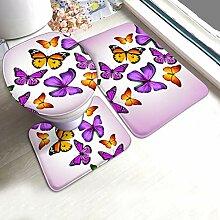 ELQSMTIR Schmetterlinge Badvorleger Badematten