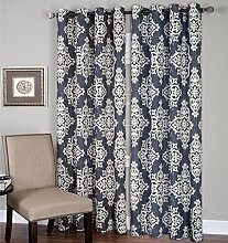 elrene Home Fashions 026865796308Tülle Top Leinen Look Single Panel-Fenster Vorhang Drape