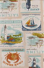 Elrene Segeln und Coastal Life Patchwork Vinyl