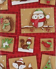 Elrene Woodland Creatures Weihnachten Patchwork