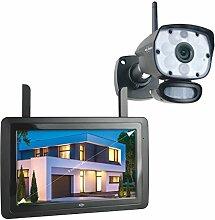 """ELRO CZ60RIP11S CZ60RIP Color Night Vision Überwachungskamera Set mit 9"""" Bildschirm und App"""