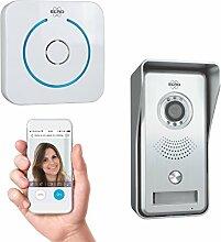 ELRO DVC040IP IP Türklingel Kamera mit Nachtsicht und Türgong, Kommunikation mit Live Video über App, Grau, One Size