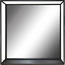 Elsa L. Regal aus Metall Draht Spiegel/, 45,7cm Cube, matt schwarz