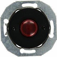 Elso Doppeltaster mit Zentralplatte, schwarz Renova, WDE011248