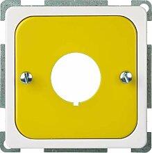 Elso Zentralplatte für Not-Ausschalter mit 2, gelb / reinweiß, 203067