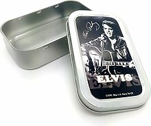 Elvis Presley Edel Tabakdose Aluminium Silber