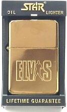 Elvis Presley Star Gold Benzin Feuerzeug (T23) +