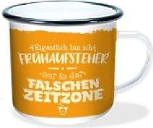 Emaille-Becher Falsche Zeitzone 300ml