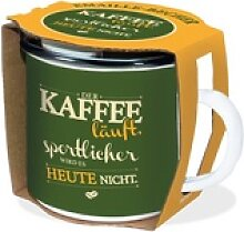 Emaille-Becher Kaffee läuft 300ml