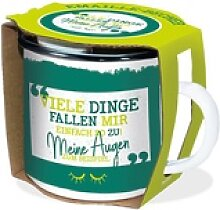 Emaille-Becher Viele Dinge 300ml