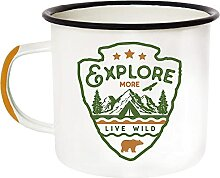 Emaille Camping Becher Thermobecher–Morning