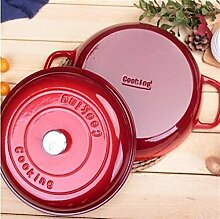 Emaille Gusseisen Töpfe Dutch Oven Suppe Stock