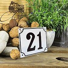 Emaille Hausnummernschild 21 - Wählen Sie Ihre