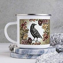 Emaille-Kaffeetasse, 284 ml, lustige Kaffeetasse,