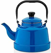 Emaille Kessel Marmorierung 16 Emaille Blue Teapot