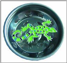 Emaille-Küchensieb, Limettengecko