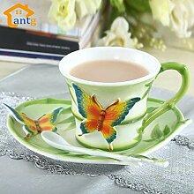 Emaille Porzellan Kaffeetasse Kreative