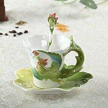 Emaille Porzellan Kaffeetassen Dragon Und Phoenix