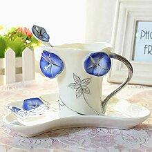 Emaille Porzellan Kaffeetassen Und Untertassen