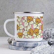 Emaille-Tasse, 284 ml, lustige Kaffeetasse, Design