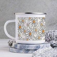 Emaille-Tasse, 284 ml, lustige Kaffeetasse,