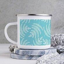 Emaille-Tasse, 284 ml, lustige Kaffeetasse, weiße