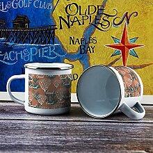 Emaille-Tasse, lustige Kaffeetasse, Motiv