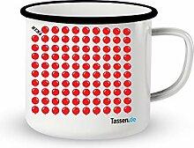 Emaille-Tasse mit Spruch - 99 Luftballons -