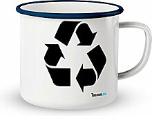 Emaille-Tasse mit Spruch - Recycling - Lustige