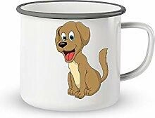 Emaille-Tasse mit Spruch - Suesser hund - Lustige