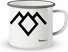 Emaille-Tasse mit Spruch - Twin Peaks - Lustige