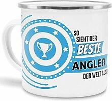 Emaille-Tasse mit SpruchSo Sieht der Beste Angler