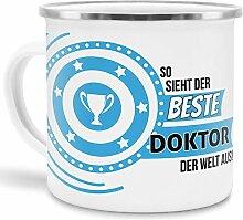 Emaille-Tasse mit SpruchSo Sieht der Beste Doktor